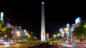 Buenos Aires timelapse. stock video footage