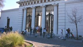 Buenos Aires - timelapse view of the people in a famous landmark building stock video footage