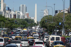 Buenos Aires traffic Royalty Free Stock Image