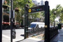 Buenos Aires tunnelbana, Argentina Arkivbild