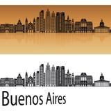 Buenos Aires V2 horisont stock illustrationer