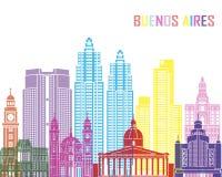 Buenos Aires V2 skyline pop Royalty Free Stock Photos