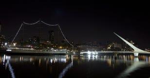 Buenos Aires vid natt royaltyfria foton