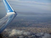 Buenos Aires vu de la ville de l'Argentine d'air de Buenos Aires vue de la fenêtre d'avion Photographie stock
