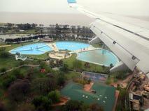 Buenos Aires vu de la ville de l'Argentine d'air de Buenos Aires vue de la fenêtre d'avion Photos libres de droits