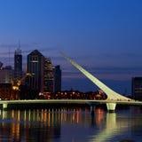 Buenos- Airesnachtansicht. Stockfotos