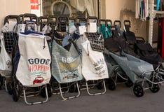 Buenos bolsos lindos del whith que hacen compras Fotografía de archivo