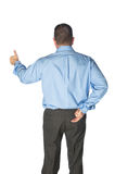 Buesinessman giving hand signals Royalty Free Stock Photo