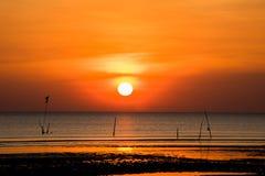 buetiful hemel op het strand royalty-vrije stock afbeelding