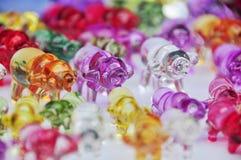 Buey de cristal de la estatuilla Imágenes de archivo libres de regalías