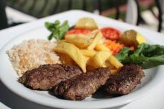 bufala食物意大利地中海无盐干酪 库存图片