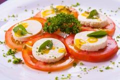 Bufallo Mozzarela Appetizer Stock Photo