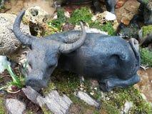 Bufalo della statua Immagine Stock Libera da Diritti