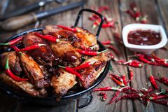 Bufalo style chicken wings Royalty Free Stock Image