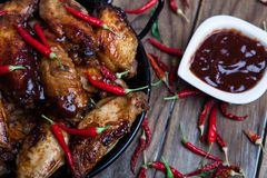 Bufalo style chicken wings Royalty Free Stock Photos