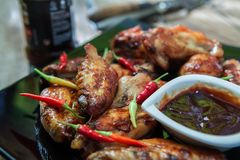 Bufalo style chicken wings Stock Photo