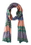 Bufanda aislada en el fondo blanco Opinión superior de la bufanda Fotografía de archivo libre de regalías