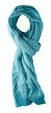 Bufanda aislada en el fondo blanco Opinión superior de la bufanda Bufanda azul Imagen de archivo