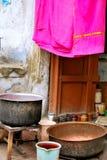 Bufanda apenas pintada en la India Imagen de archivo