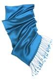 Bufanda azul Imágenes de archivo libres de regalías