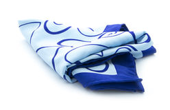 Bufanda azul Fotos de archivo libres de regalías