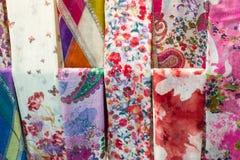 Bufanda colorida del algodón Imágenes de archivo libres de regalías