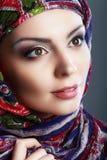 Bufanda de la mujer Foto de archivo libre de regalías
