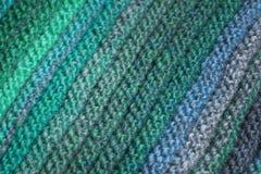 Bufanda de lana en el fondo blanco detallado altamente Fotografía de archivo libre de regalías