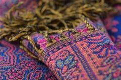 Bufanda de las lanas de Pashmina, textura abstracta de los hilos del lana y de seda foto de archivo