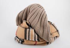 Bufanda de las mujeres con el sombrero Foto de archivo libre de regalías