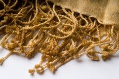Bufanda de lujo de la cachemira con la franja Fotos de archivo
