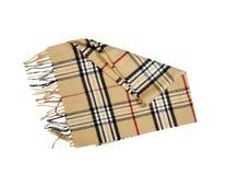 Bufanda del color de la mostaza aislada en blanco Imágenes de archivo libres de regalías