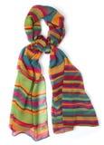 Bufanda del colorfull de Colourfull en blanco Fotos de archivo libres de regalías