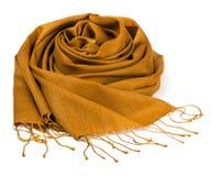 Bufanda del oro Foto de archivo libre de regalías