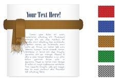 Bufanda del oro que hace punto y 5 texturas hechas punto Fotografía de archivo libre de regalías