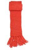 Bufanda del rojo de las lanas Imágenes de archivo libres de regalías