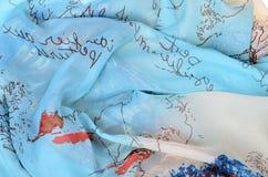 Bufanda del ` s de las mujeres Textura, tela Imagen de archivo libre de regalías
