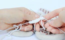 Bufanda hecha punto Foto de archivo libre de regalías