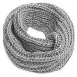 Bufanda hecha punto en un fondo blanco fotografía de archivo libre de regalías