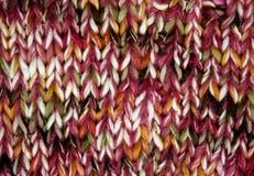 Bufanda hecha punto para el fondo Fotos de archivo