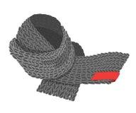 Bufanda hecha punto vector en blanco Fotografía de archivo