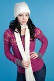 Bufanda que desgasta de la muchacha fotografía de archivo