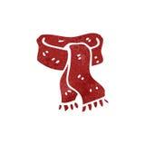 bufanda retra de la historieta Foto de archivo libre de regalías