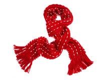 Bufanda roja Imágenes de archivo libres de regalías