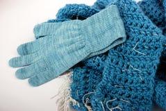 Bufanda y guante Fotos de archivo libres de regalías