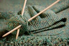 Bufanda y sombrero hechos punto Imagen de archivo libre de regalías