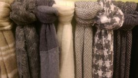 Bufandas borrosas Foto de archivo