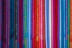Bufandas chinas de seda imágenes de archivo libres de regalías