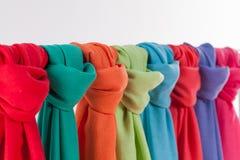 Bufandas coloreadas Fotografía de archivo libre de regalías