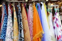 Bufandas coloridas Imagen de archivo